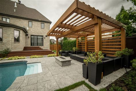 moderne pergola pergola modern laval modern other by purpatio ca