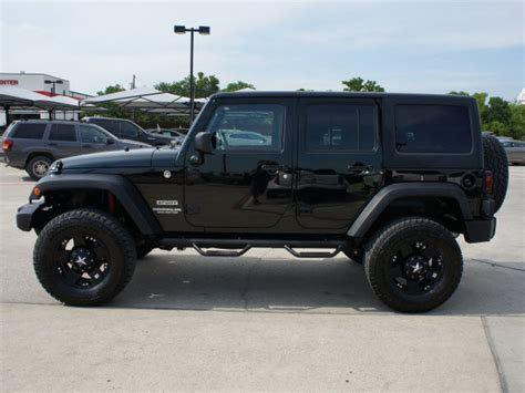 Jeep Wrangler 4 Wheel Drive Jeep Wrangler Unlimited 2012 Black Suv Sport Gasoline 6