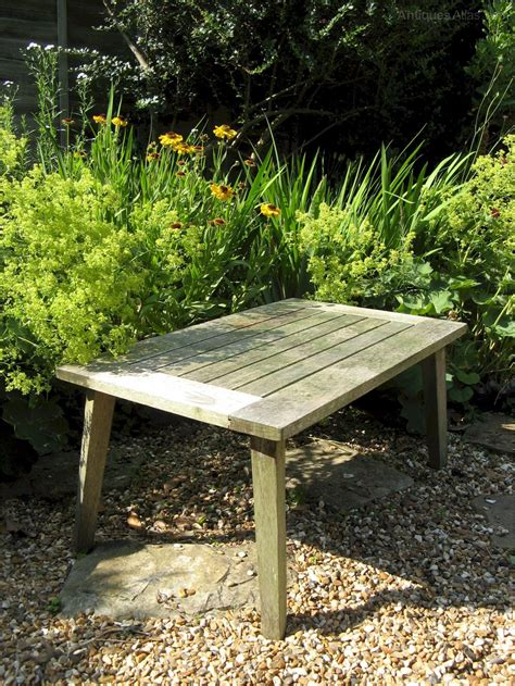 Garden Antiques by Antiques Atlas Teak Garden Table Made By R A Lister Of