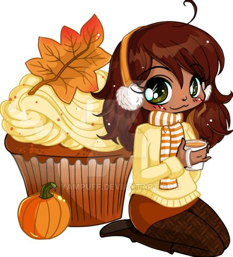 Ainie Two Way Cake By All In Shop pumpkin spice cupcake chibi by yuff on deviantart