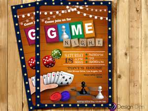 game night invitation game party invite old games