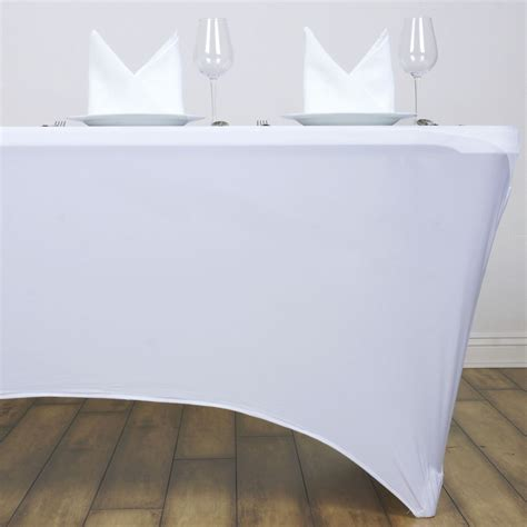 elastic tablecloths for rectangular 6 pcs 6 ft rectangle spandex stretch covers fitted