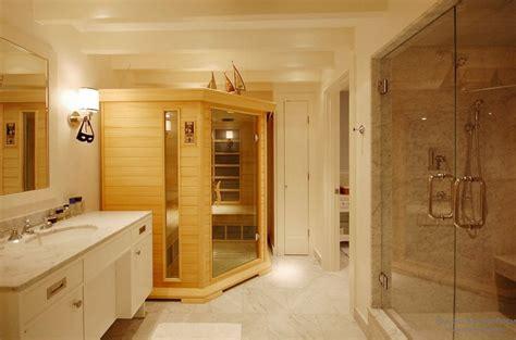 how to turn your bathroom into a sauna интерьер и дизайн домашней сауны в ванной комнате на фото
