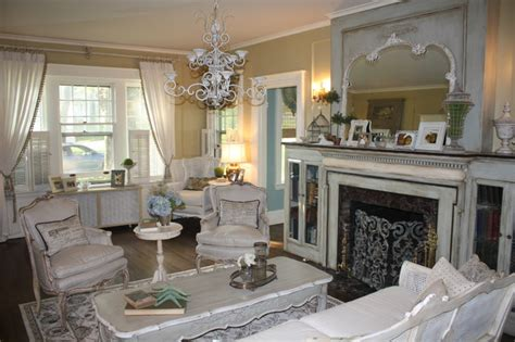 Formal Dining Room Decor by French Country Living Room Makeover Eclectic Living