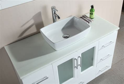 48 Quot Stanton Single Vessel Sink Vanity B48 Vs W 48 Bathroom Vanity Sink