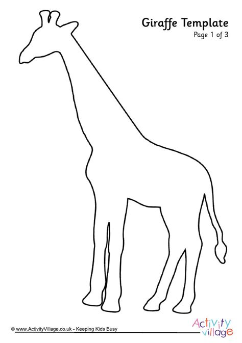 giraffe printable template giraffe template 2