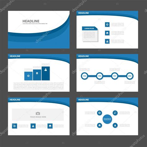 illustrator presentation templates blue curve presentation templates infographic elements