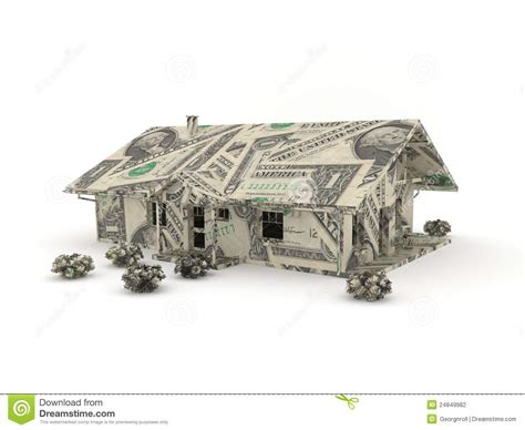 Dollar Bill Origami House - vintage car origami made from dollar bills stock
