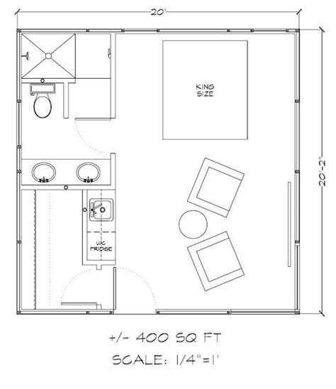 guest house floor plans 500 sq ft 500 square feet 400 square feet tiny house floor plans