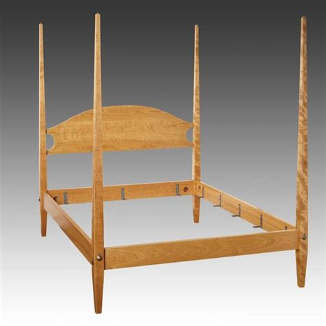 traditional custom made turned pencil post bed from the custom shaker style pencil post bed by jg custom furniture