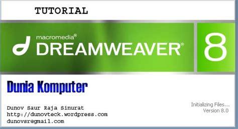 tutorial dreamweaver 8 untuk pemula pdf tutorial micromadia dreamweaver 8 dunia komputer