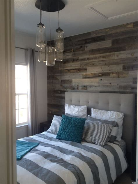 wood wall bedroom reclaimed weathered wood