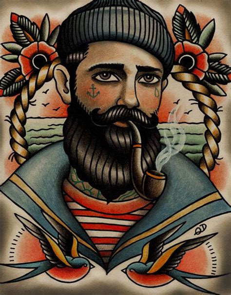 old school tattoo watercolor traditional sailor tattoo tattoos pinterest sailor