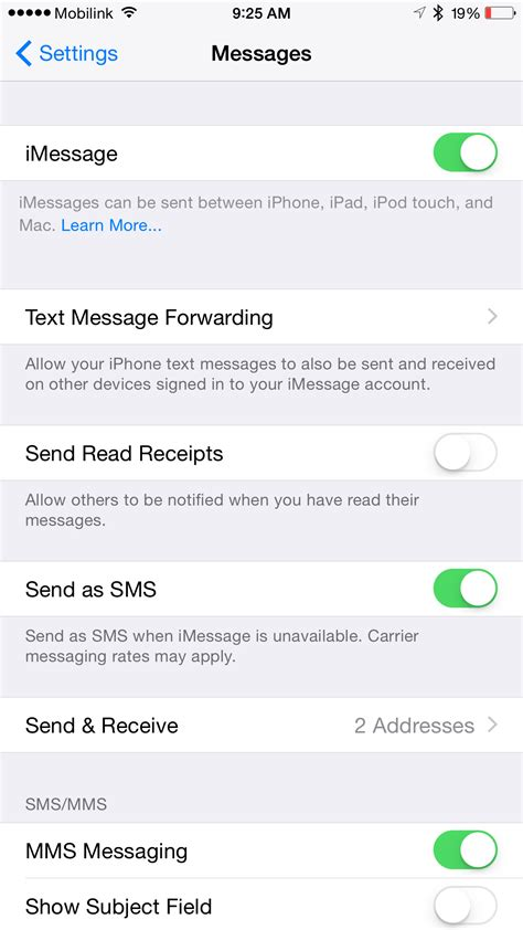 how to update imessage number fix imessage activation issue on ios 8 3 after taig