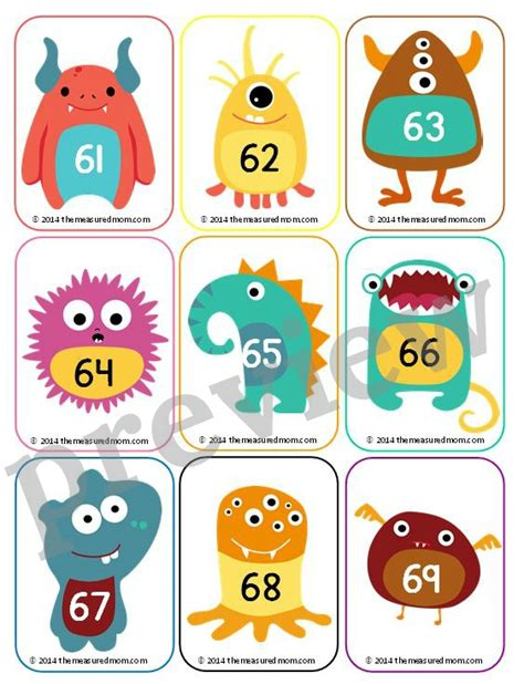 cute printable number cards free number cards 1 130 with ideas for how to use them