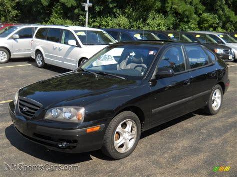 2004 Hyundai Elantra Gt by 2004 Hyundai Elantra Gt Hatchback In Black Obsidian