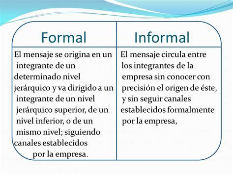 la carta formal e informal ppt comunicaci 211 n formal e informal ppt descargar