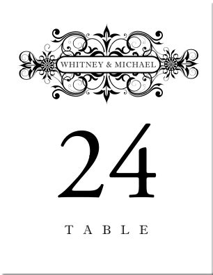 Retro Wedding Table Numbers Vintage Table Number Designs Vintage Table Cards Vintage Wedding Vintage Table Numbers Template