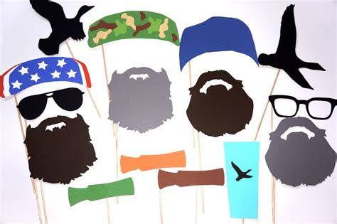printable army photo booth props instant download printable duck hunter prop set set of 22