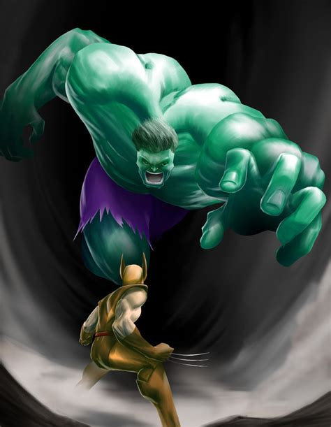 imagenes de hulk vs wolverine en real hulk vs wolverine by ikitaina on deviantart