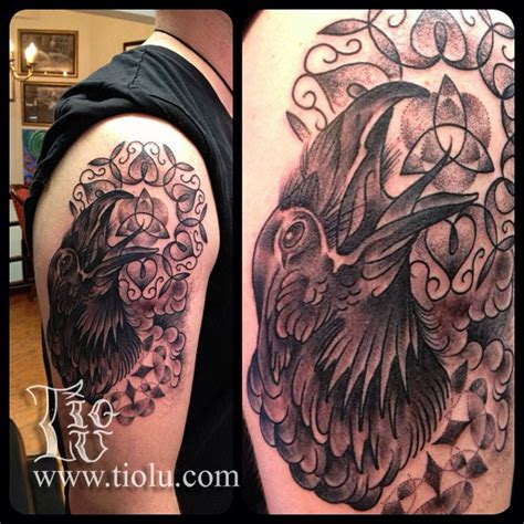tattoo quebec celtic celtic crow quebec in iceland tattoos by tiolu