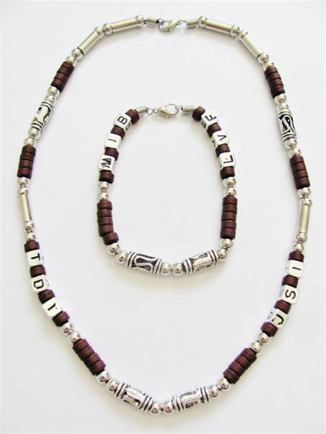 mens bead necklaces cancun random letters s necklace bracelet beaded