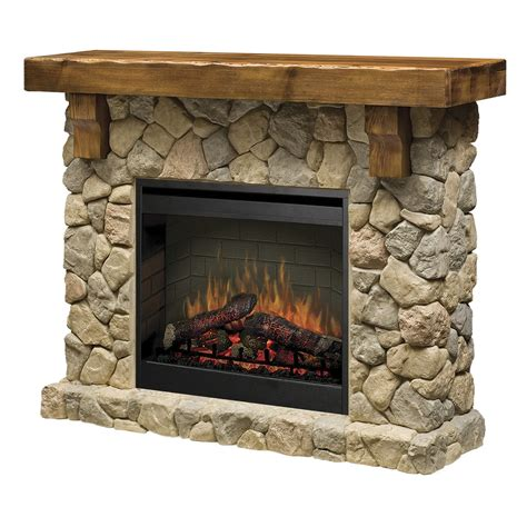 rustic electric fireplace dimplex fieldstone smp 904 st electric fireplace wall