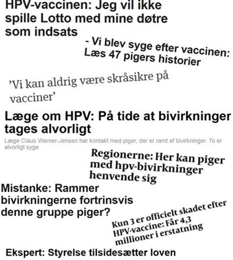 Serum Hpv hpv vaccinen overblik mediestormen