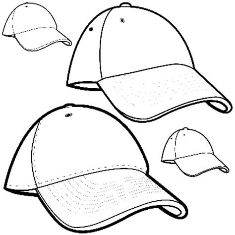 baseball hat coloring page clipart best