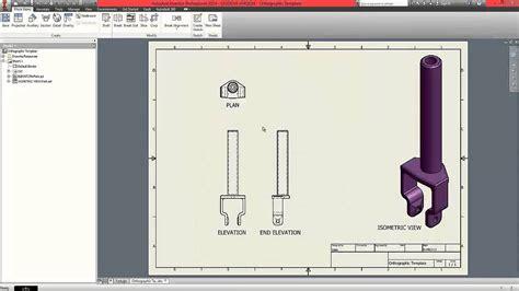 pattern 3d sketch inventor autodesk inventor beginner tutorial part 8 orthographic