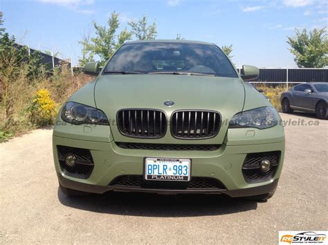 matte bmw matte military green bmw x6 vehicle customization shop