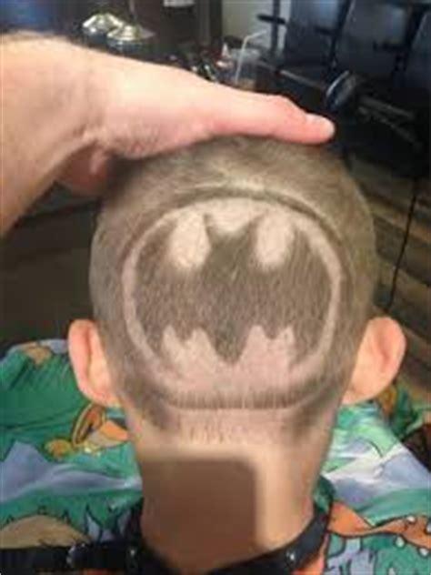 Batman Hair Tattoo | popular themes for hair tattoo low fade haircut