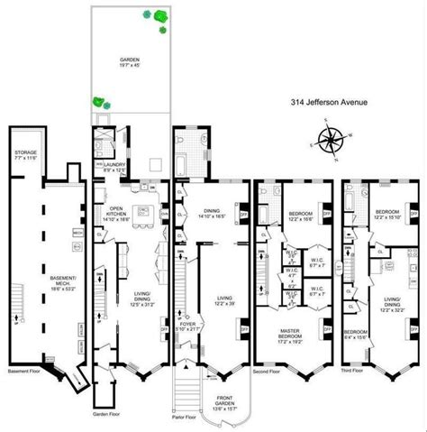brooklyn brownstone floor plans 56 best images about home floorplans on pinterest house