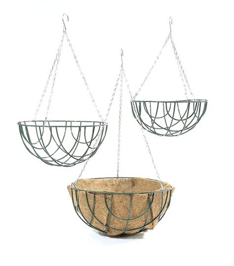 hanging planter basket standard wire hanging basket planter 35cm 163 2 99