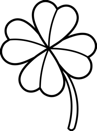 Four Leaf Clover Outline Clip by 4 Leaf Clover Outline Clipart Best