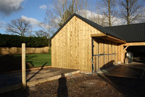 Built In Kitchen Island cladded barn with stables the wooden workshop oakford
