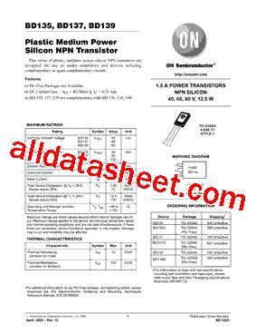 datasheet transistor npn bd139 bd139 datasheet pdf on semiconductor