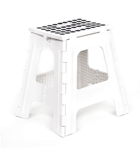 Rhino Ii Folding Stool by Kikkerland Casa Banco Plegable Alto Color Blanco 623