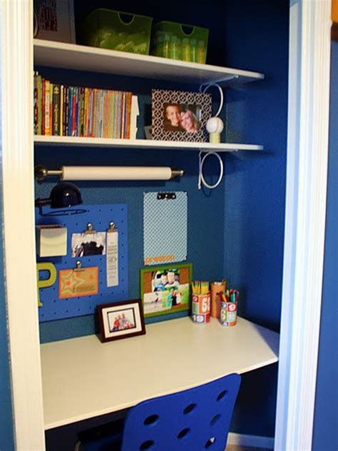 Interior Decorating Ideas Cool And Stylish Office Room In Closet Storage