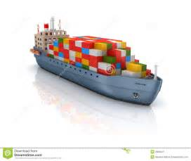 Cargo Management Containerization Cargo Container Ship Royalty Free Stock Photography