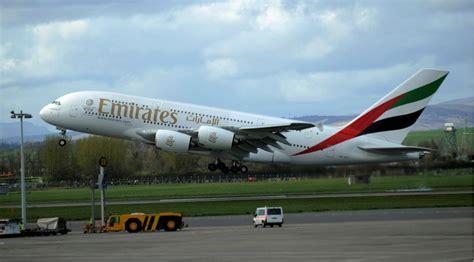emirates glasgow glasgow airport celebrates a380 s debut in scotland