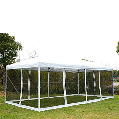 Tent Shelter Canopy Outsunny 10 X 20 Pop Up Canopy Shelter Tent With