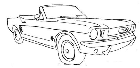 coloring pages of convertible cars ford mustang convertible embroidery cross stitch tattoo