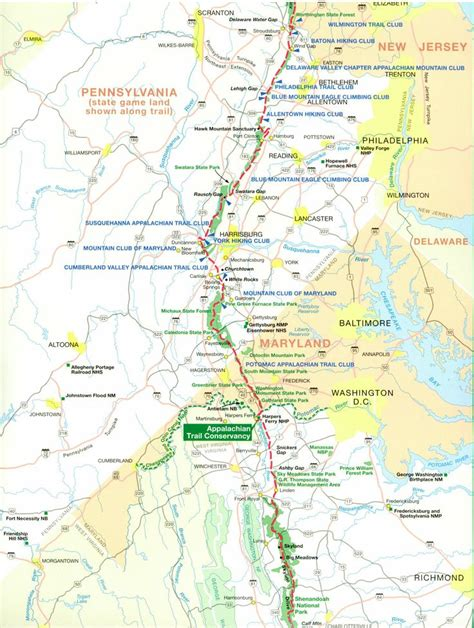 best section of appalachian trail best 25 map of appalachian trail ideas on pinterest