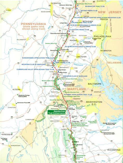 appalachian trail section maps best 25 map of appalachian trail ideas on pinterest