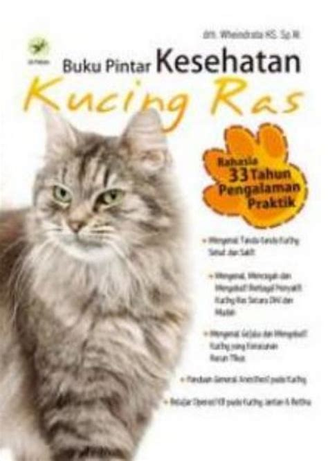 sikat buku kucing dan anjing bukukita buku pintar kesehatan kucing ras