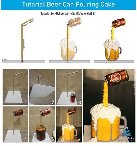 tutorial design mug beer can pouring by michael almeida cakesdecor com