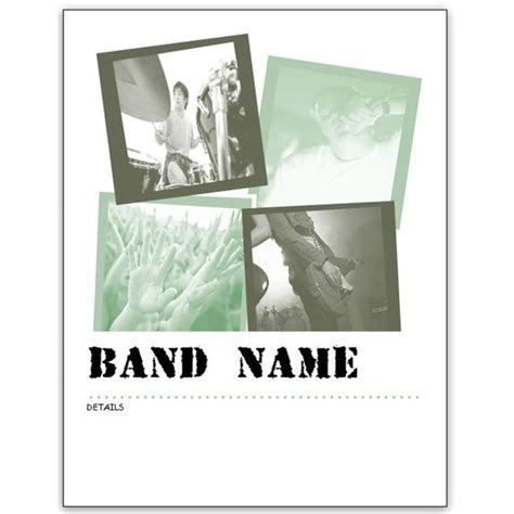 band template free band flyer templates for ms word or publisher