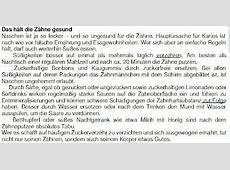 Free German: Deutsch lernen kostenlos: Das hält die Zähne ... Ilder Leseverstehen