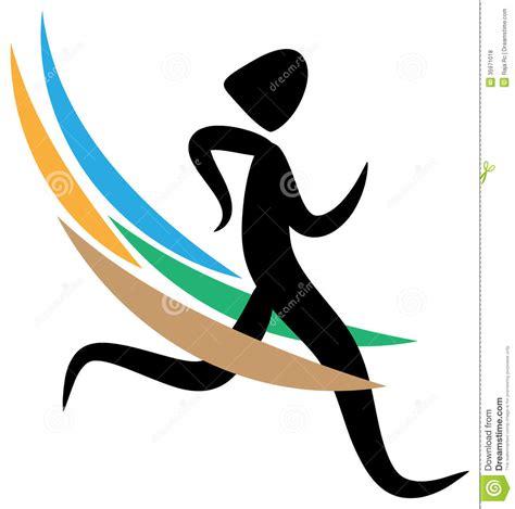 Emblem Logo Running running logo stock vector image of clip healthy